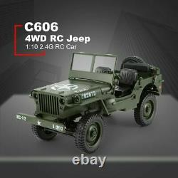 Willys Jeep OFF Road Radio Remote Control RC Truck Tank 4WD Military Army 2.4GHZ